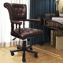 Silla de oficina giratoria marrón - Marrón