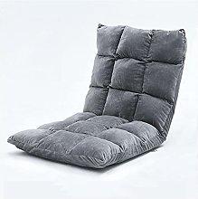 Silla de piso ajustable con soporte trasero, silla