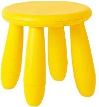 Silla de plástico para niños, taburete redondo