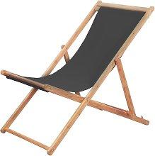 Silla de playa plegable estructura de madera y