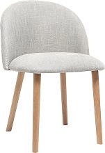 Silla diseño gris y madera CELESTE