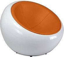 Silla Egg Eero Aarnio cuero de imitación Naranja