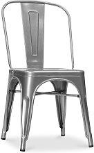 Silla estilo Tolix con asiento cuadrada - Nueva
