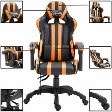 Silla gaming de escritorio naranja PU