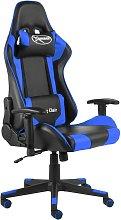 Silla gaming giratoria PVC azul - Azul