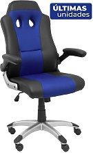 Silla gaming Talave similpiel negro y azul