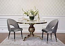 Silla Glamour tapizada Acero para Comedor
