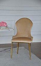 Silla Glamour tapizada en Oro Beige Moderno New