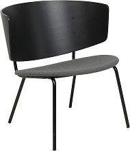 Silla Herman Lounge tapizada, negro