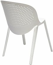 Silla JAVA, apilable, polipropileno blanco*