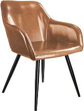 Silla Marilyn Piel sintética - marrón/negro