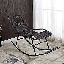 Silla mecedora al aire libre de mimbre silla de
