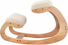 Silla mecedora de madera de rodillas para postura
