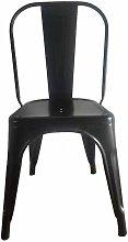 Silla metálica modelo HKM001 pintada color negro.