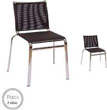 Silla modelo Klen, textilene negro. Pack de 2