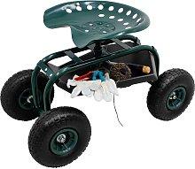 Silla móvil de jardín scooter silla taburete con
