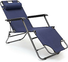 - Silla plegable de acampar, 35 x 60.5 x 153 cm,
