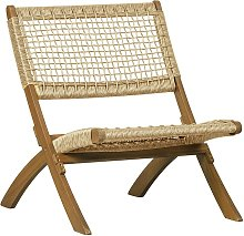 Silla plegable Lois, natural