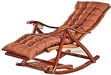 Silla reclinable plegable de bambú de verano,