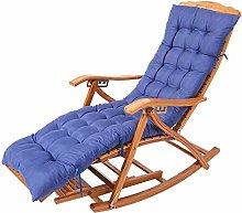 Silla reclinable plegable de bambú mecedora Lazy