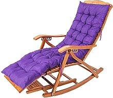 Silla reclinable plegable de bambú mecedora