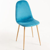 Silla Teok Terciopelo - Verde azulado