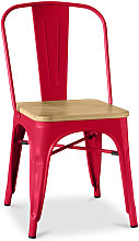 Silla Tolix Cuadrado de madera Pauchard Style -