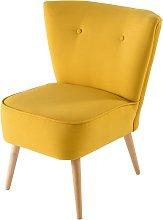 Silla vintage amarillo