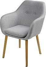 Silla vintage color gris claro