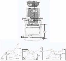 Sillas de Camping Mecedora, Estructura de Acero