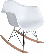 Sillón balancín modelo ST017 color blanco