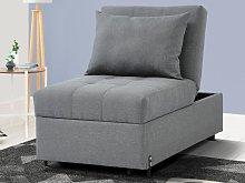 Sillón-cama de tela LESNA - Gris