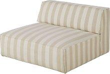 Sillón cama para sofá modular con estampado de