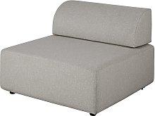 Sillón cama para sofá modular gris