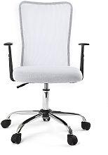 Sillón de escritorio diseño malla blanca PLUZ