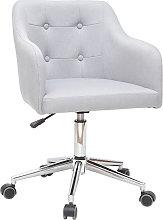 Sillón de escritorio diseño tejido gris claro