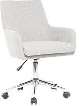 Sillón de escritorio diseño tejido gris SHANA