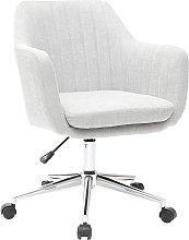 Sillón de escritorio moderno en tejido gris claro