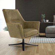 Sillón giratorio color oliva silla de sala de