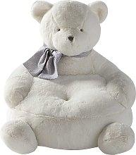 Sillón infantil de oso blanco