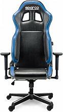 Sillon Piel Oficina-Gaming - Sparco - Azul..
