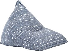 Sillón puf de tela patchwork añil - Hommoo