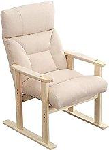 Sillón reclinable ajustable de tela tapizado para