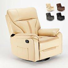Sillón reclinable relax con mecedora y rotación