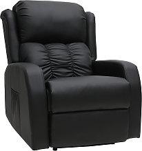 Sillón Relax eléctrico masajeador negro GALLER