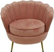 Sillón ROSMARI, tapizado velvet rosa