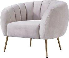 Sillón SIRET, tapizado velvet gris 25