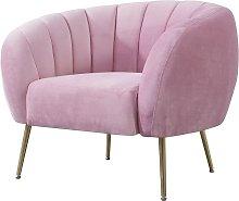 Sillón SIRET, tapizado velvet rosa 201