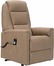 SIME - Relax sillón eléctrico Tela Efecto Piel