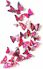 SJEMY Mariposas decorativas 3D para pared (12